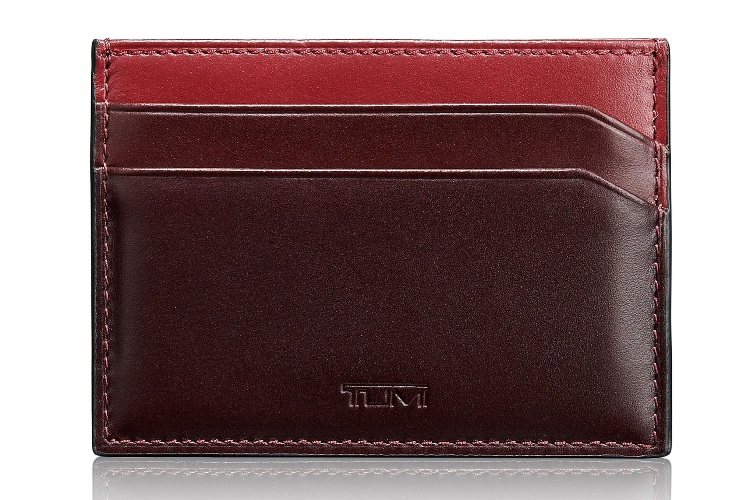 Tumi 'Grant' Leather Money Clip Card Case