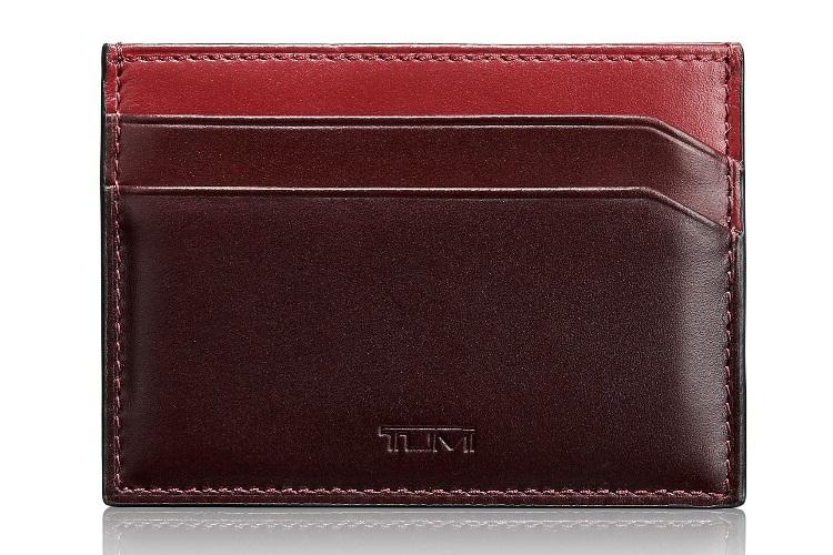 tumi grant leather money clip card case