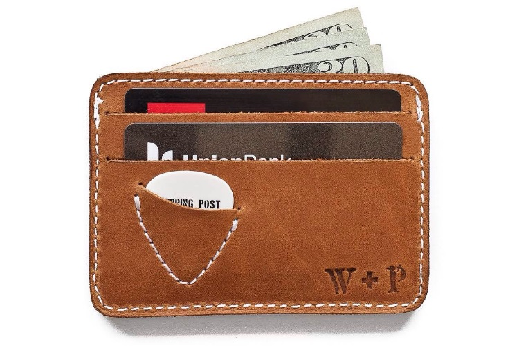 LEATHER MENS SMALL ULTRA ID CREDIT CARD WALLET HOLDER SLIM POCKET CASE BROWN