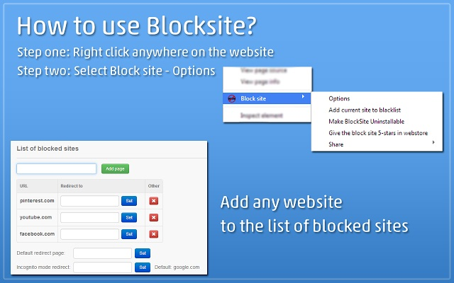 use block site