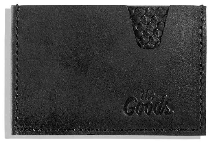 the goods black leather wallet