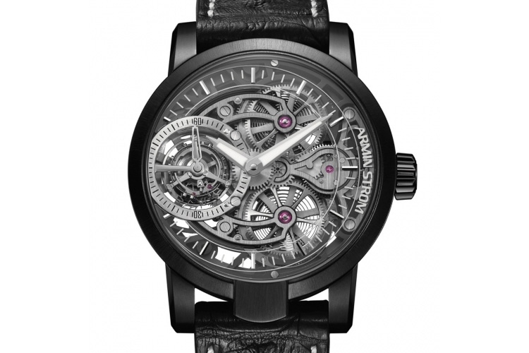 armin strom tourbillon skeleton earth black