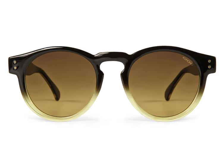 komono clement black gold sunglasses