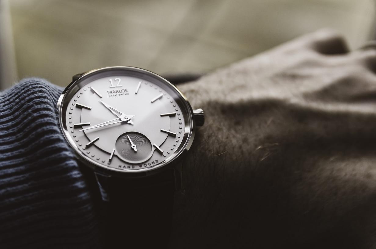 wearing marloe watch in the hand
