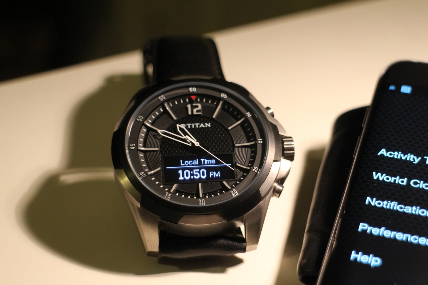 titan juxt watch local time set