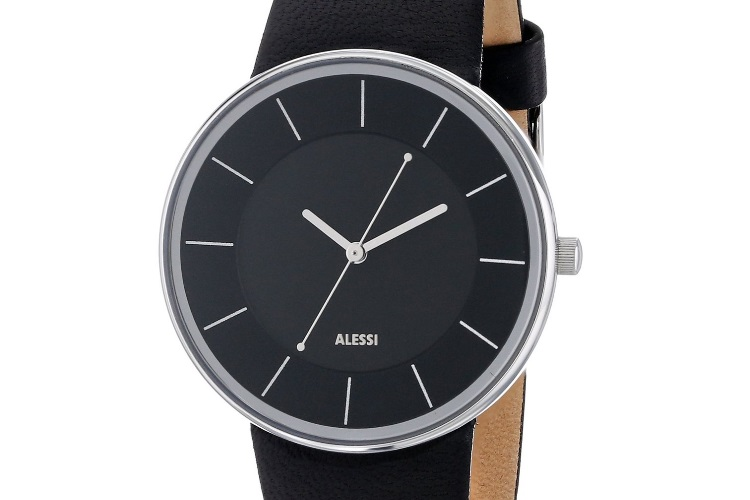 black simplistic alessi men's al8004 stainless steel automatic watch