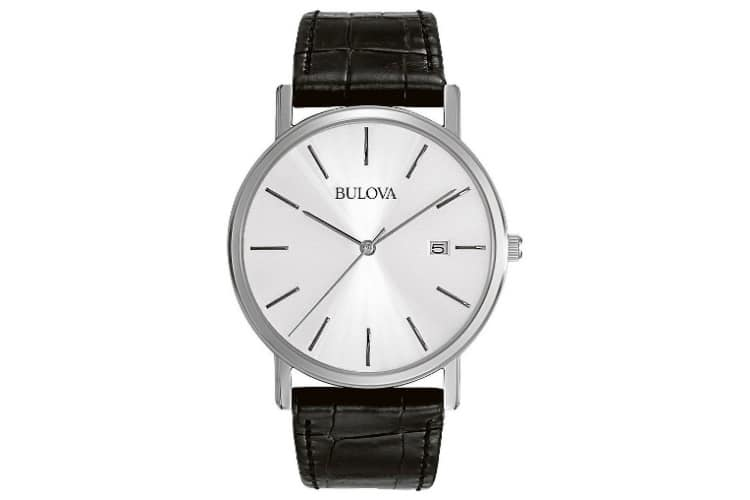 bulova men 96b104 stainless steel basic watch