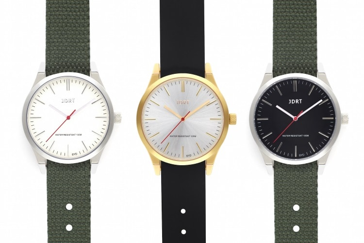 jdrt sterling canvas strap minimalist watch