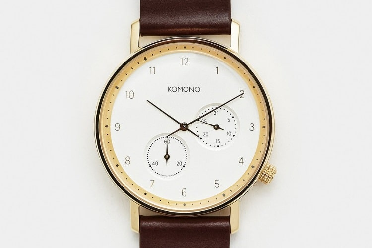 komono walther tobacco clean simplistic watch design