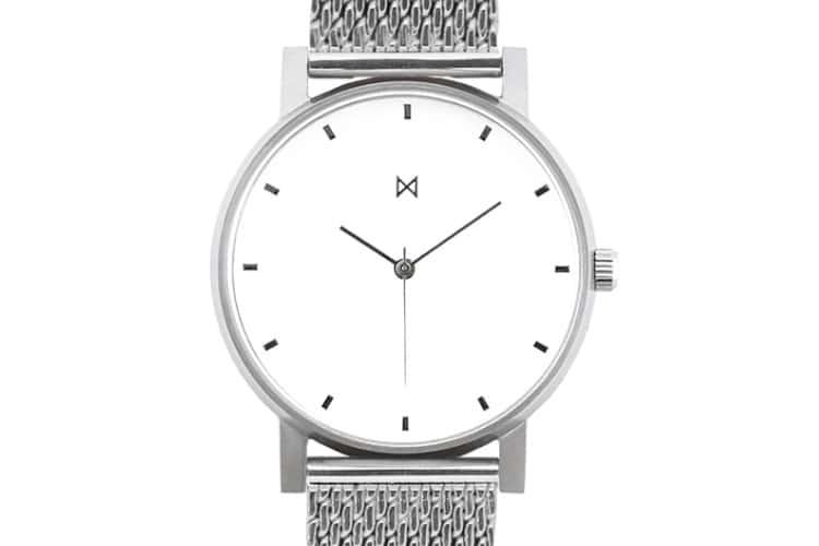 Minimalist Watches M1 Mesh Silver & White