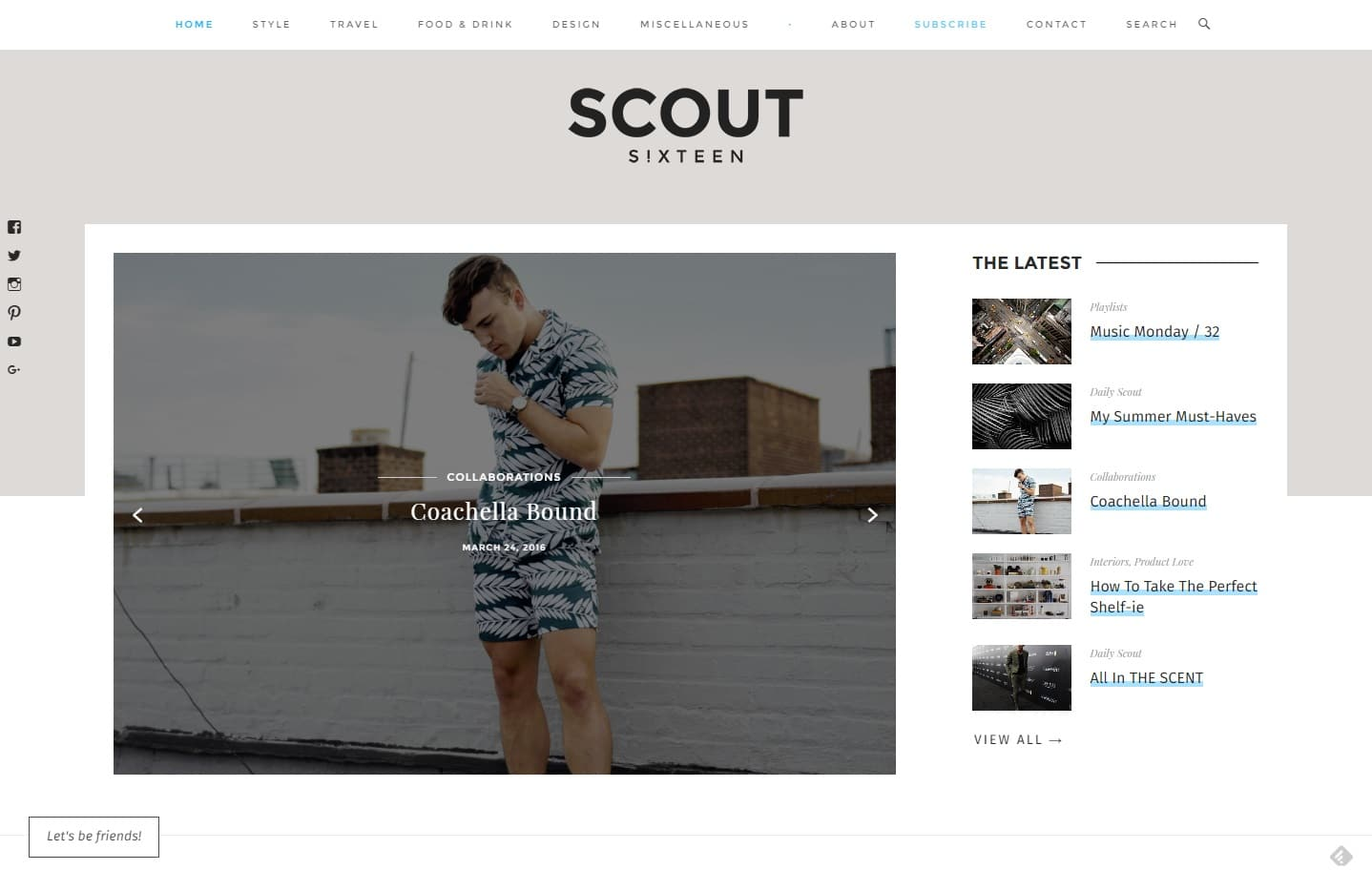 Scout Sixteen Men s Fashion Travel Food Drink – blog by Justin Livingston