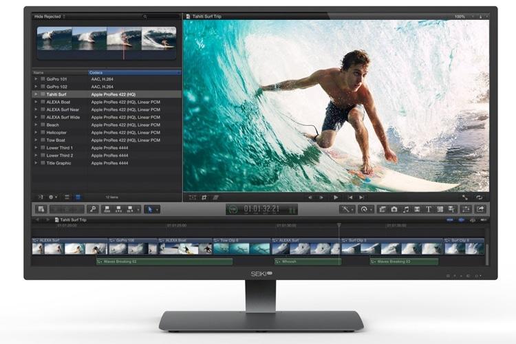 seiki pro sm40unp monitor front view