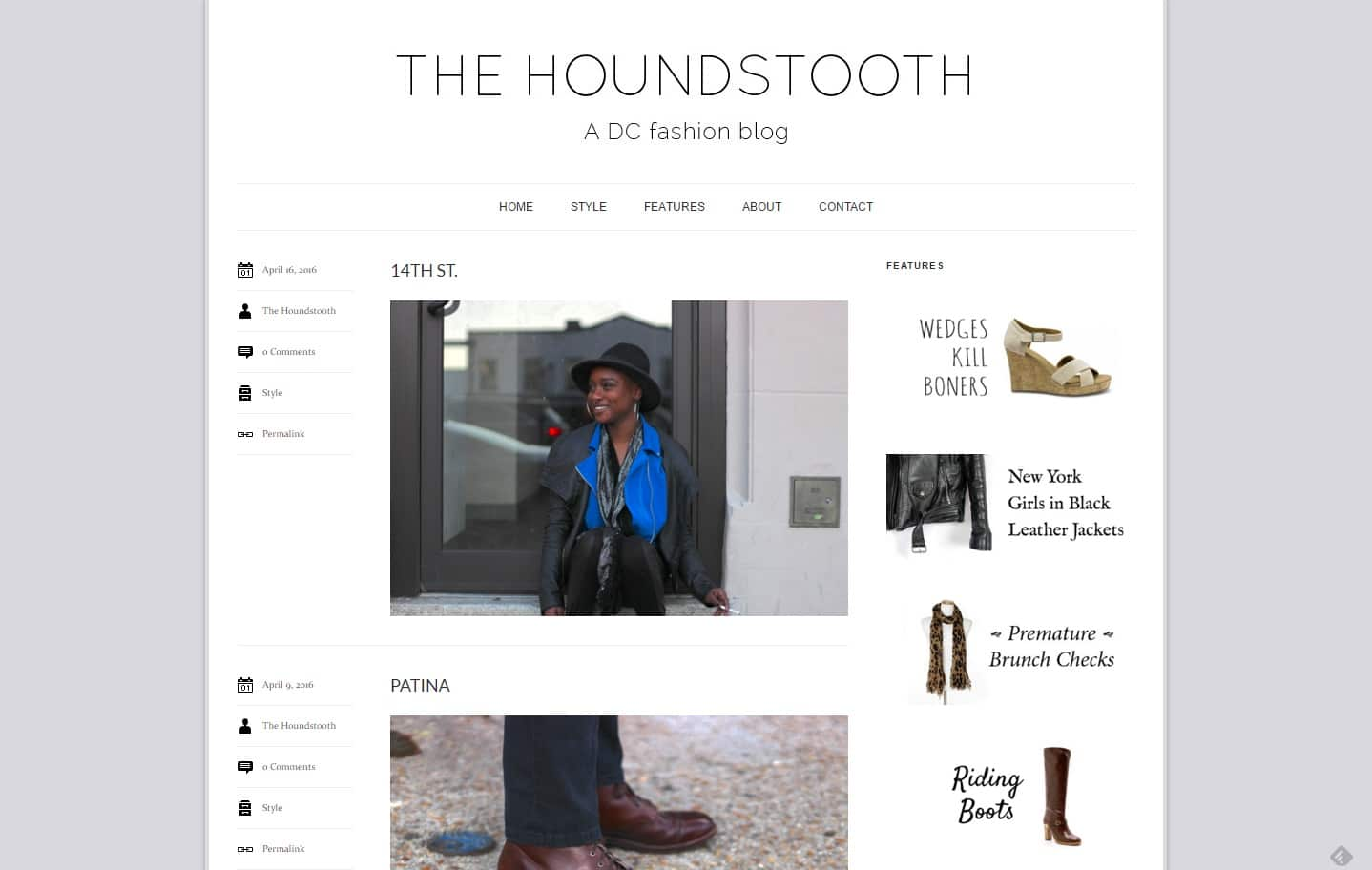 the houndstooth street style blog
