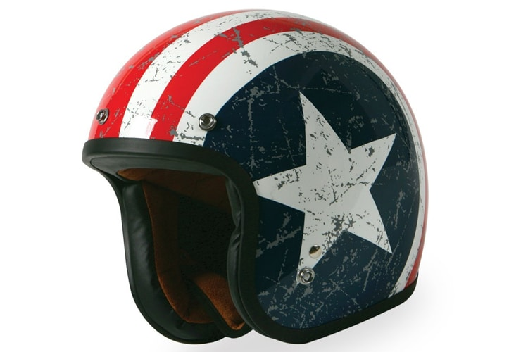 torc racing t50 vintage motorcycle helmet