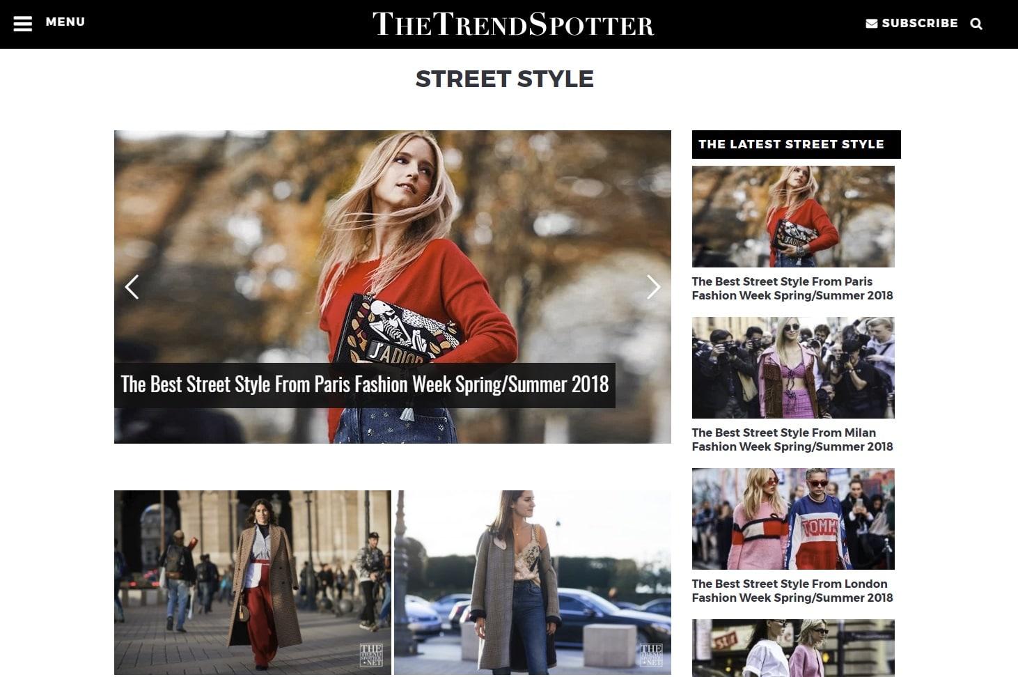 the trend spotter blog