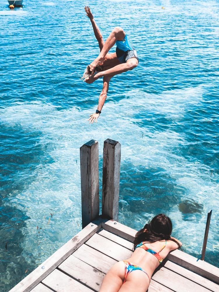 jump over sea