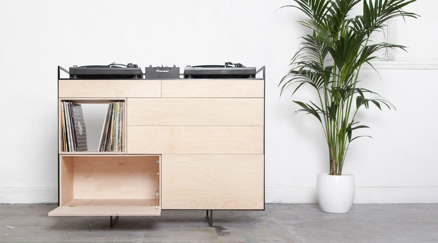 dj cabinet flair for great decor and great music