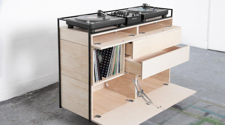 drawer space of selectors dj cabinet