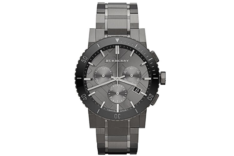 burberry chronograph stainless steel watch bu9381