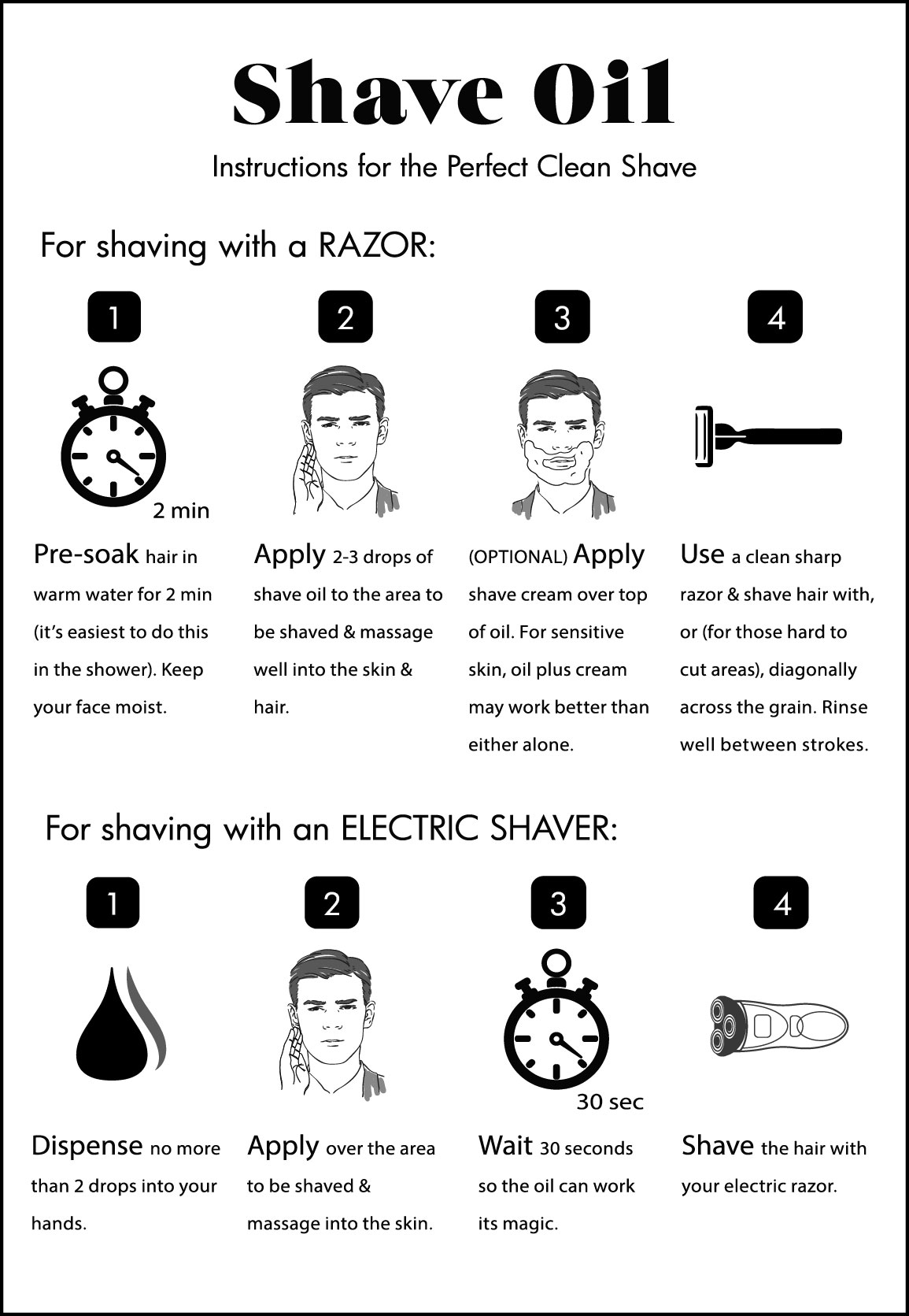 milkman shave oil instructional