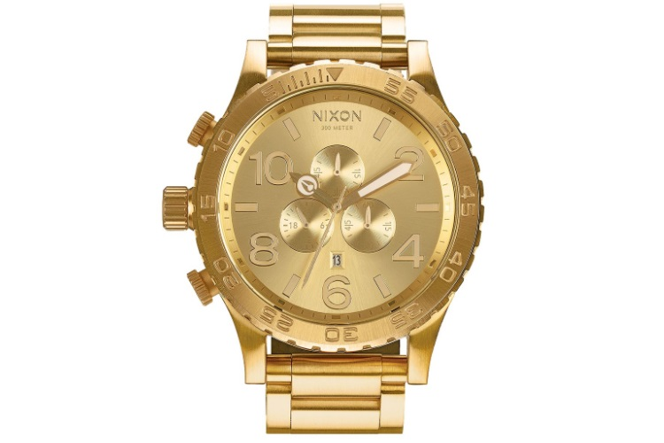 nixon 51 30 chrono watch in all gold watch