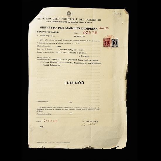 Panerai Patent for Luminor