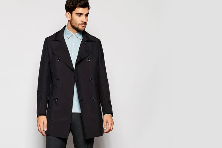 reiss double breasted trench coat