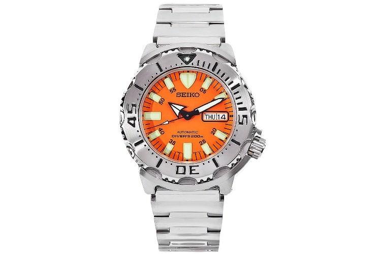 seiko skx781 orange monster dive watch