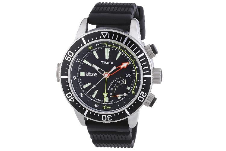 timex intelligent quartz depth gauge dive watch