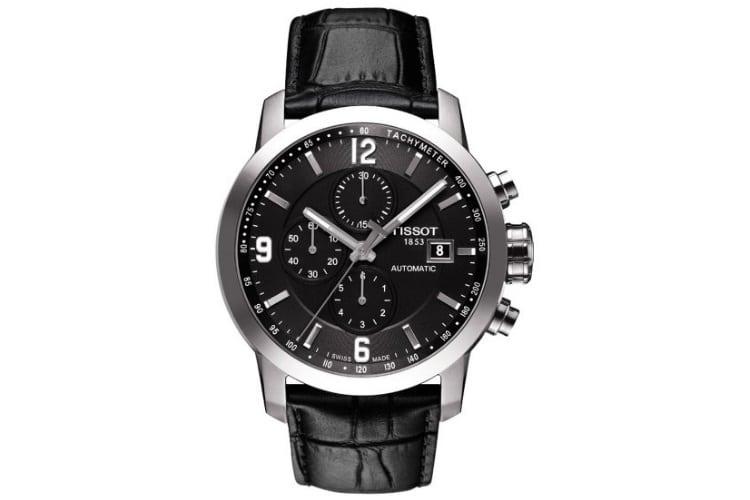 tissot men prc 200 swiss automatic black watch