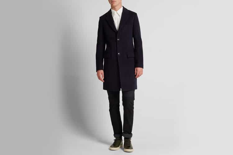 tomorrowland wool chester overcoat