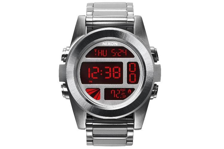 nixon a3601263 00 automatic silver watch