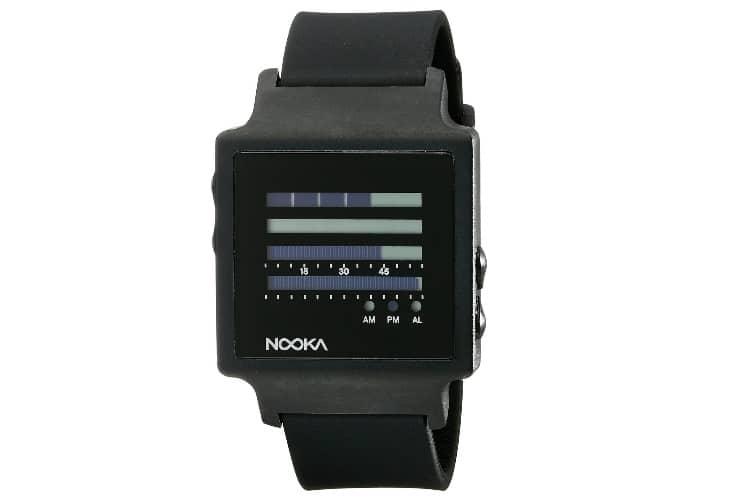 nooka unisex zenhkbk digital display quartz black watch