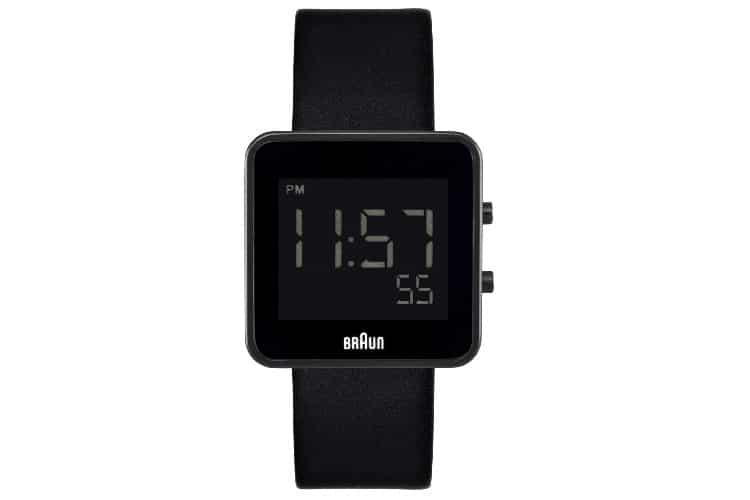 braun bn0046bkbkg digital display quartz black watch