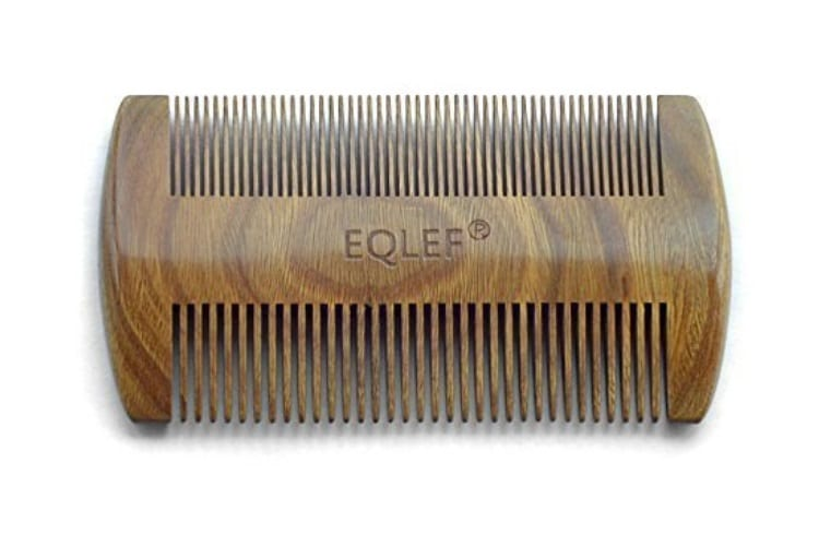 eqlef green sandalwood no static handmade comb