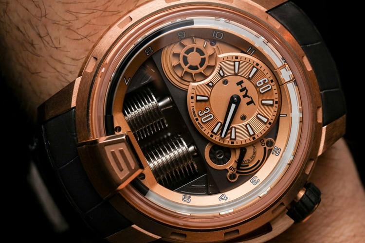 hyt h1 full gold watch