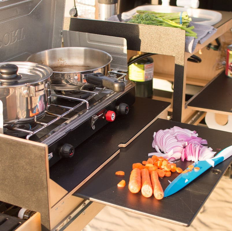 the overland kitchen can be customized for others