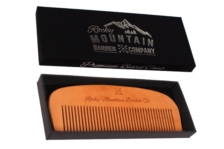 rocky mountain barber company wood hair comb