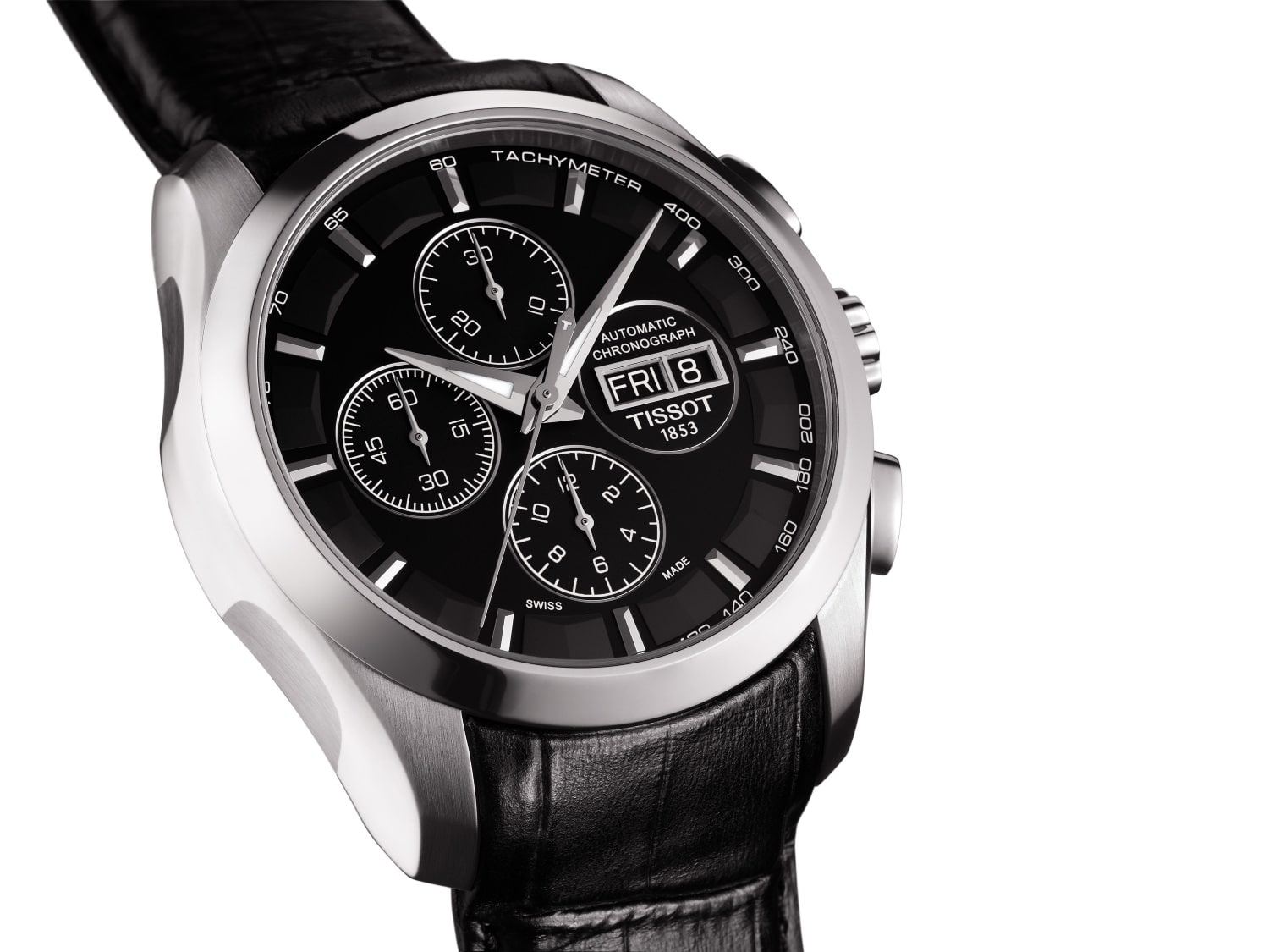 tissot couturier automatic chronograph steel case