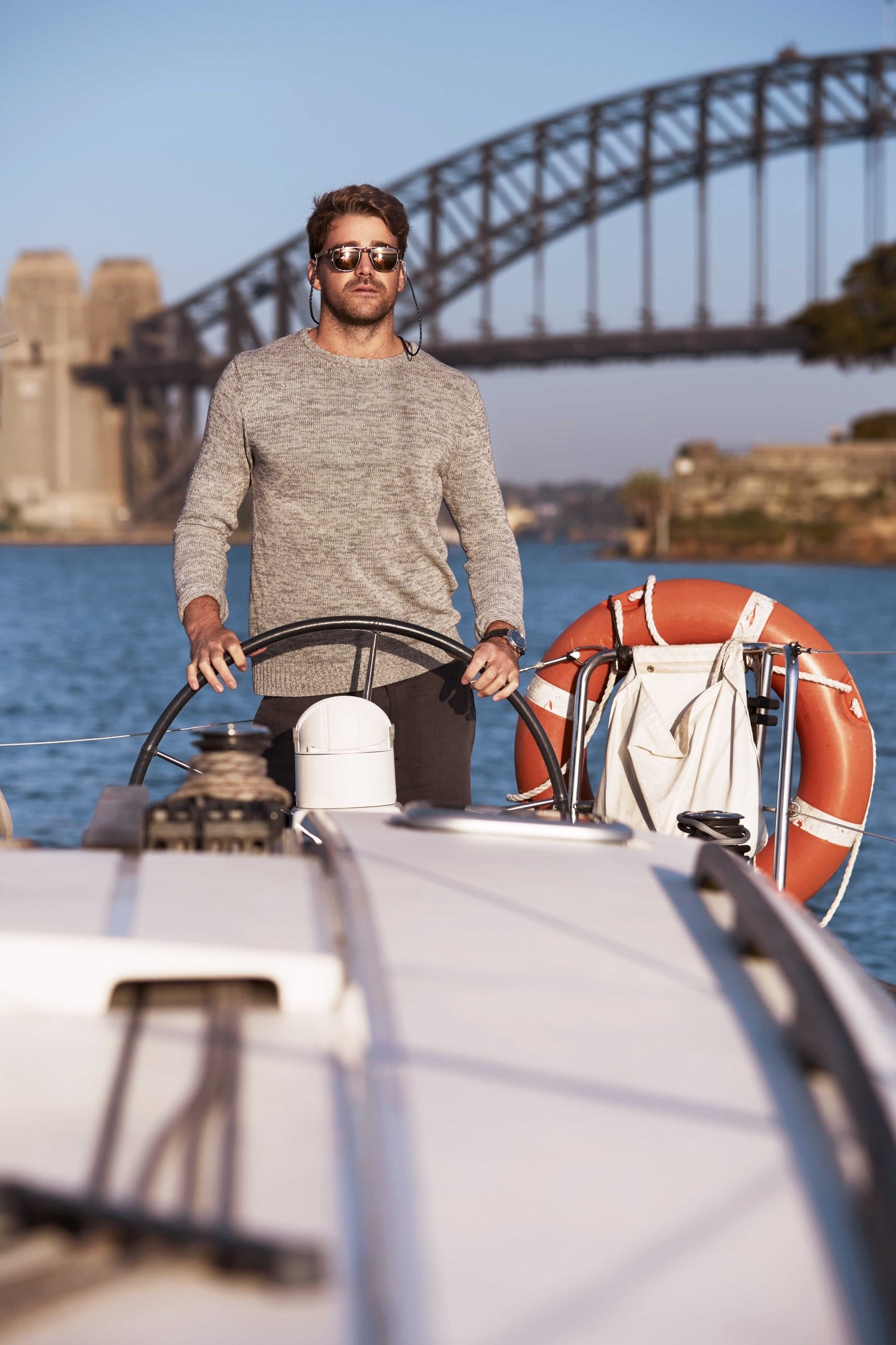 men wearing yachtmaster sunglasses