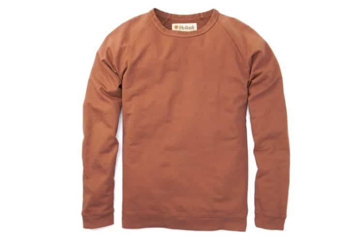 huckberry find reverse raglan crew shirt
