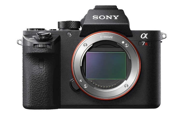 sony a7r ii camera front view