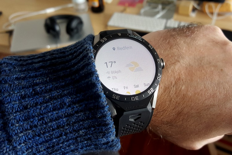 tag heuer connected watch weather