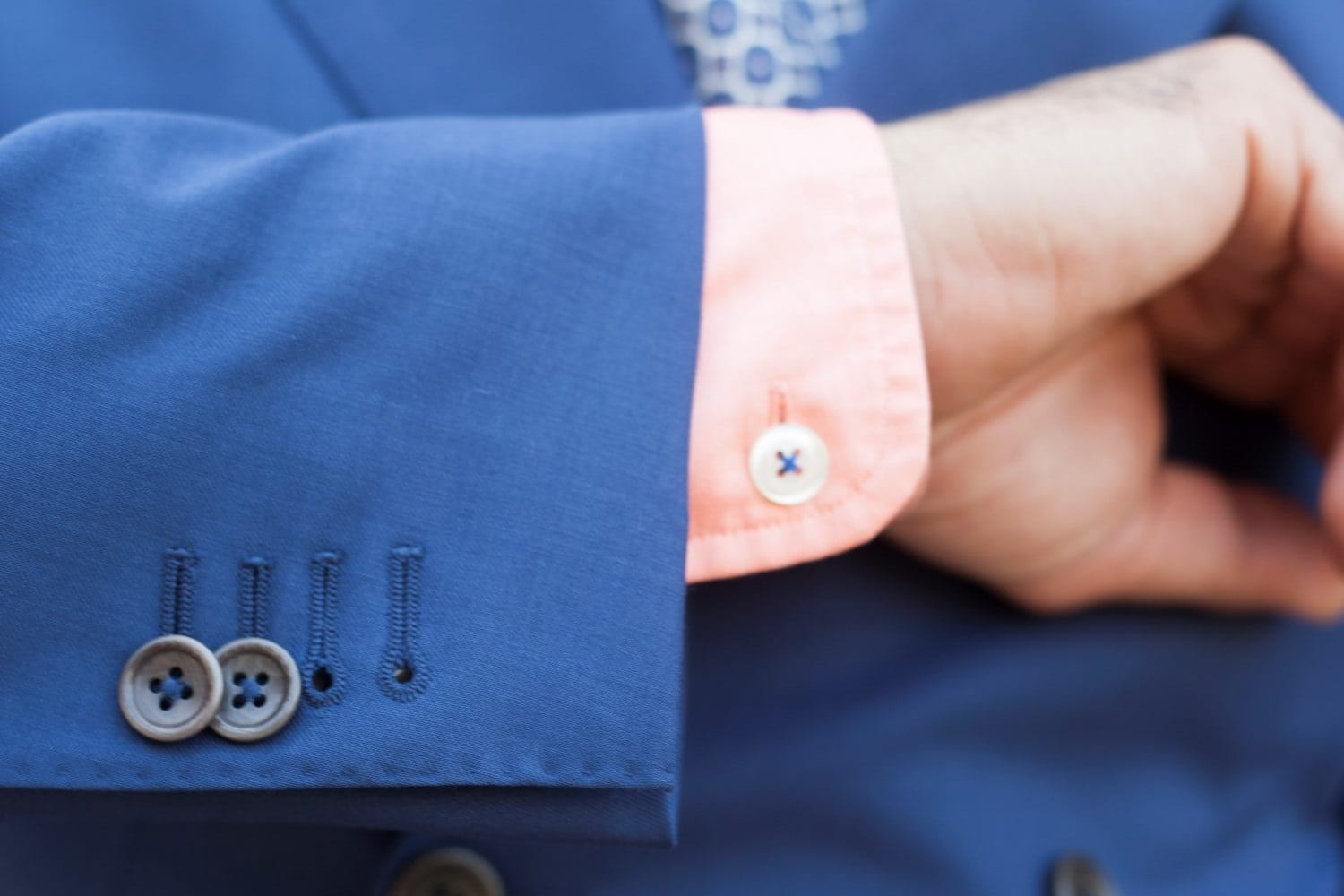 tailored suit button