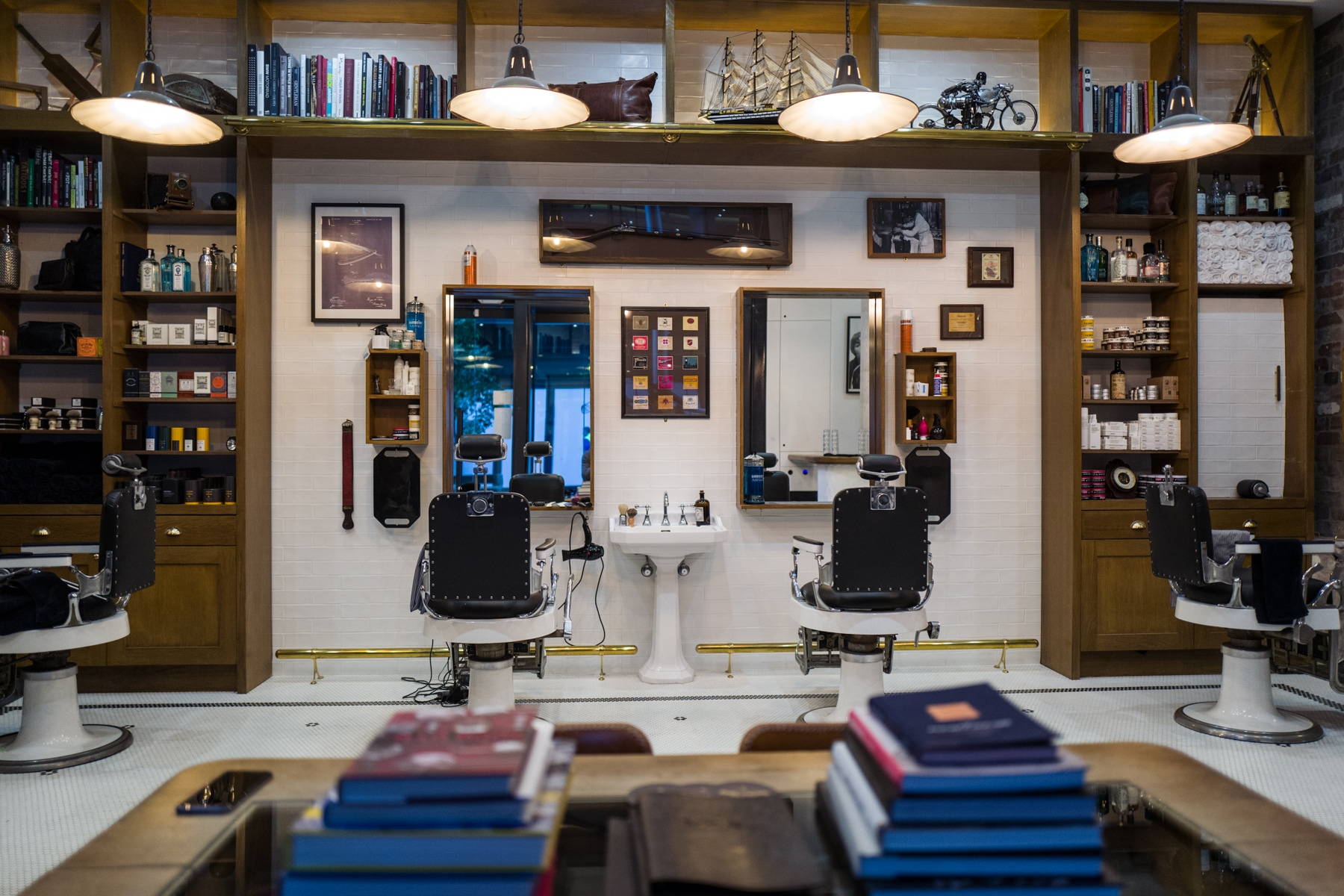 Old Barber Chairs >> Haircuts & Whisky - Barangaroo Barber Shop | Man of Many