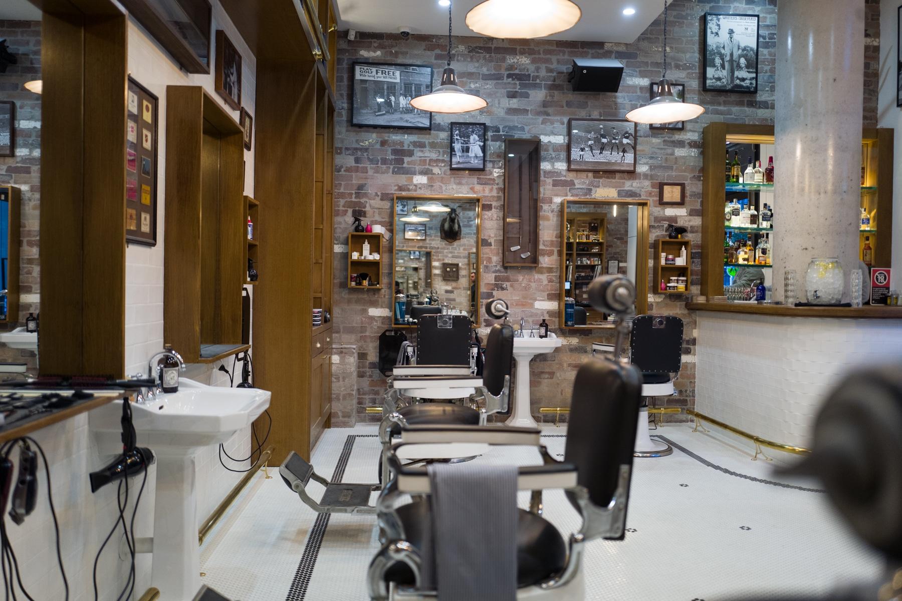 mens grooming popular barber shop