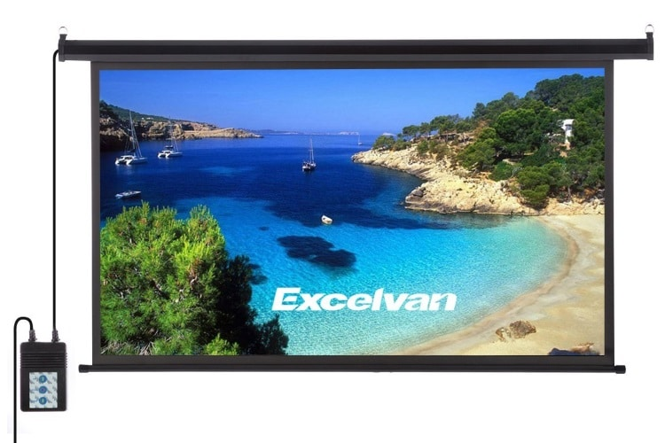 excelvan portable 100 inch wall hd 4k projector screen