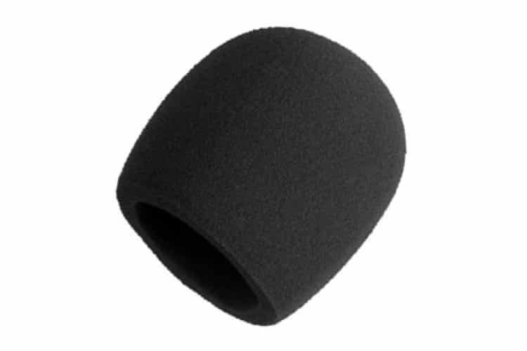 shure a58ws blk foam windscreen