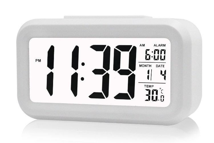 huge ass white digital clock