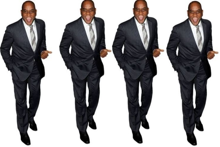 ainsley men laughing